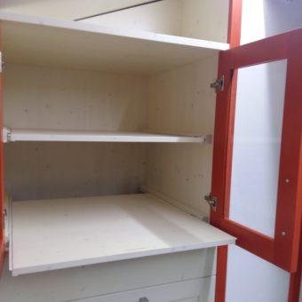 cucina in rosso-mobili lorenzi